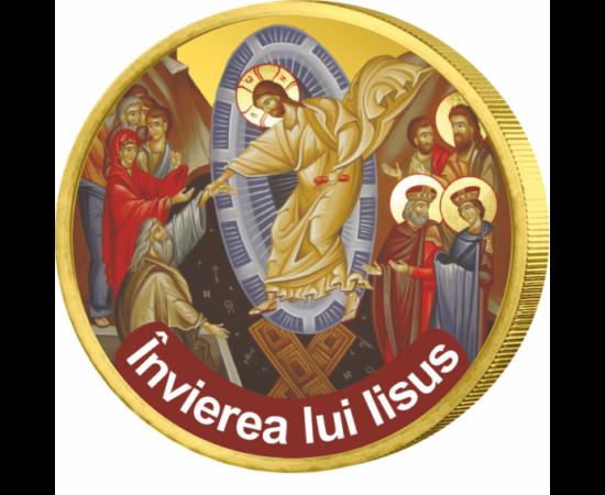 Minunile lui Iisus, Învierea lui Iisus - monedă pictată, 50 cenţi, UE