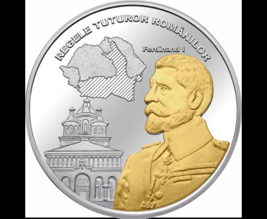 // medalie, România,  // - Pe 15 octombrie 1922, la Alba Iulia, a fost încoronat ca Regele României Mari. În timpul domniei sale a fost adoptată Constituţia modernă, care a oferit cadrul dezvoltării României Mari.