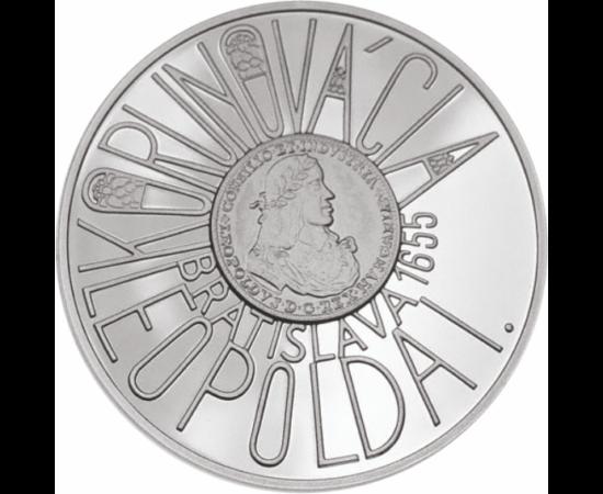 // 200 coroane, argint de 900/1000, Slovacia, 2005 // - Leopold I a fost rege al Boemiei, Ungariei, Croaţiei, arhiduce de Austria. După decesul tatălui său, Ferdinand al II-lea, a fost ales împărat al Sfântului Imperiu Roman. A acordat privilegii atât cre