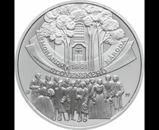 // 10 euro, argint de 900/1000, Slovacia, 2011 // - Mişcarea revoluţionară slovacă a început în anul 1848 cu un memorandum, care a exprimat voinţa slovacilor de a exercita autonomia naţională, dezvoltarea liberă a vieţii naţionale slovace şi au cerut, de