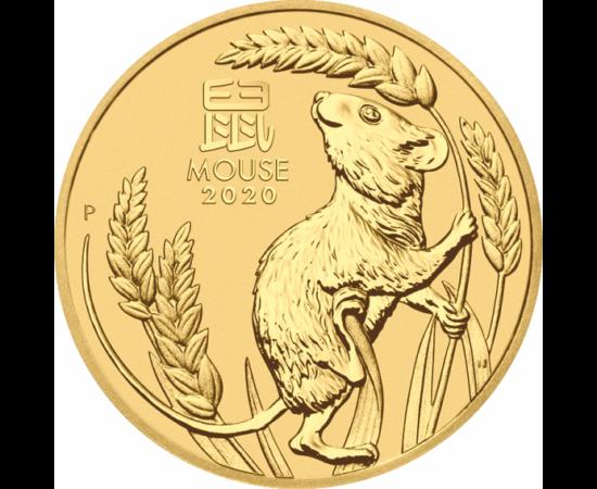 // 5 dolari, Monedă cu zodiacul chinezesc, aur de 999,9/1000, Australia, 2020 // Potrivit horoscopului chinezesc, în anul 2020 a început Anul Şobolanului. Numeroase experimente ştiinţifice au arătat că şobolanul este un animal inteligent, capabil să lucre