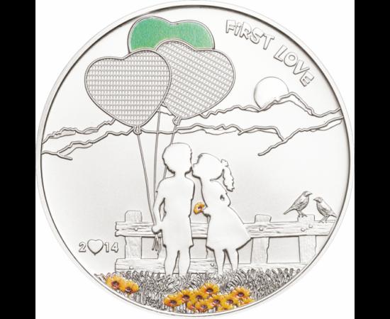 // 5 dolari, Monedă care poate fi pictată pe monedă argint de 925/1000, Insulele Cook, 2014 // Sf. Valentin este considerat patronul protector al îndrăgostiților şi al logodnicilor. Există multe legende potrivit cărora 14 februarie a devenit Ziua Îndrăgos