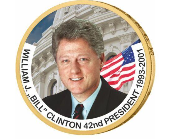 1 dolar, Bill Clinton, monedă color, 2007-2020, SUA