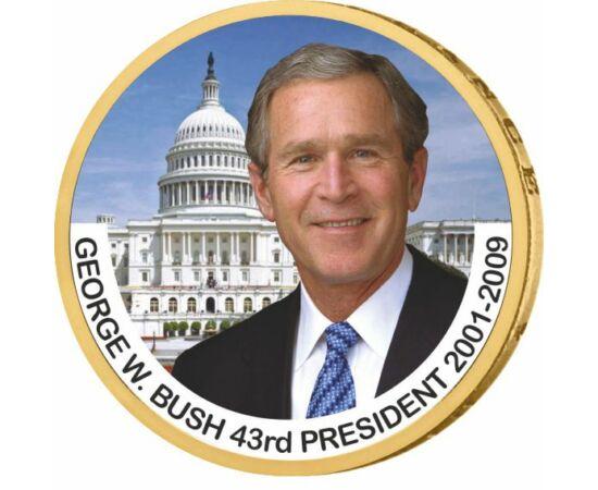 1 dolar, George W. Bush, monedă color, 2007-2020, SUA