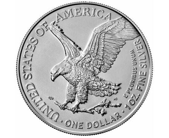 """1 dolar, Noua monedă """"Vulturul SUA"""", 1 uncie argint pur, calitatea BU, SUA, 2021"""