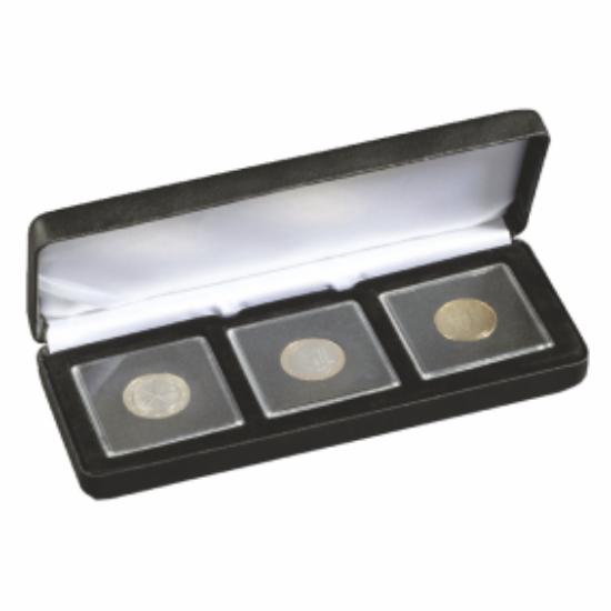 Cutii NOBILE pentru monede în capsule pătrate(3 x Quadrum)