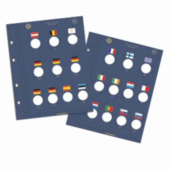 VISTA File de album pentru monede de 2 euro