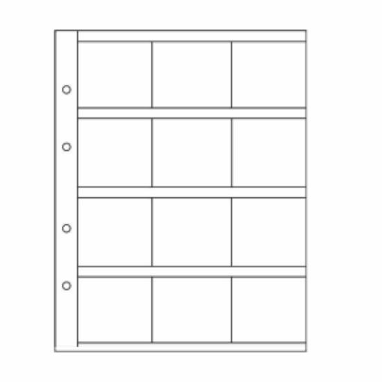 File de album OPTIMA(12 cartonaşe - 50x50 mm)