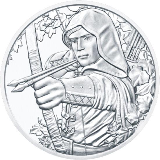 // 1,5 euro, argint de 999/1000, Austria, 2019 // - Robin Hood este un personaj legendar, un hoţ cu caracter nobil, care a furat de la cei bogaţi doar pentru a împărţi prada între oamenii săraci. Acest erou, care acum apare pe o monedă din argint, este pr