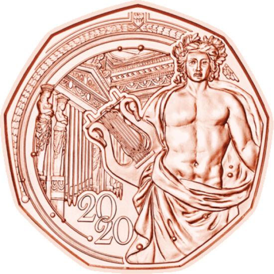 // 5 euro, Austria, 2020 // - În fiecare an, Austria întâmpină Anul Nou cu o nouă monedă specială de 5 euro. Moneda Anului Nou este decorată cu imaginea sediului Filarmonicii din Viena, numit Musikverein, care anul acesta împlineşte 150 de ani.