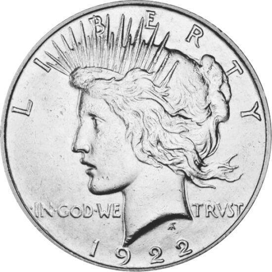 // 1 dolar, argint de 900/1000, SUA, 1921-1935 // - Pe 6 aprilie 1917, SUA a declarat război Germaniei şi cu acest fapt a decis sfârşitul războiului. După patru ani de masacru şi multe milioane de victime, inspirată de dorul pentru pace, începând cu anul