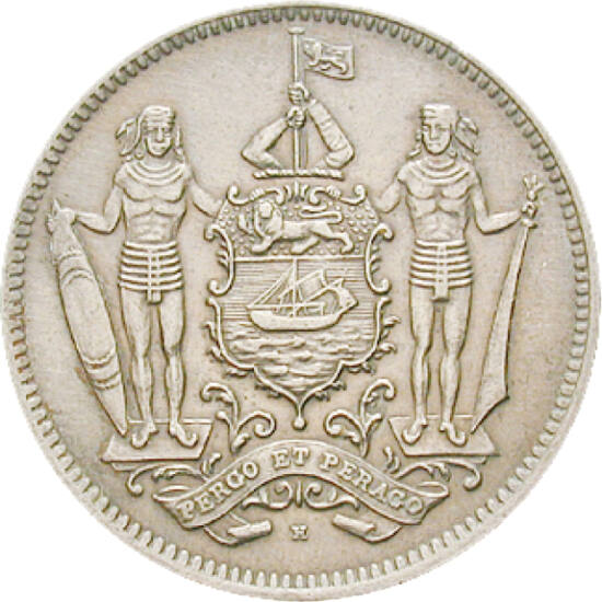 Stat colonizat de o companie, 5 cenţi, Insula Borneo de Nord, 1903-1941