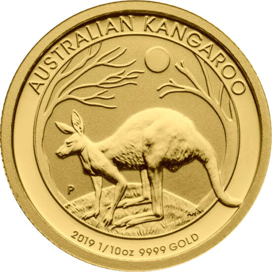 Cangur din aur, 15 AUD, aur, Australia, 2019