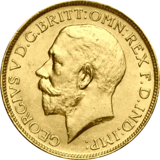 Aurul lui George al V-lea, 1/2 sovereign, aur, Marea Britanie, 1911-1926