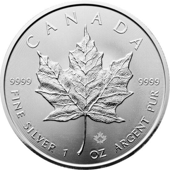 // 5 dolari, argint de 999,9/1000, Canada, 2019 // - Simbolul naţional al Canadei este frunza de arţar, care este şi motivul celei mai populare monede de investiţie de argint din Canada. Cea mai recentă dintre acestea a fost bătută utilizând tehnica laser