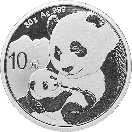 // 10 yuani, argint de 999/1000, China, 2019 // - Drăgălaşul ursuleţ panda, aflat în pragul extincţiei, a devenit simbolul protecţiei animalelor, China făcând eforturi extraordinare pentru salvarea speciei sale endemice. Astfel, protagonistul monedelor de