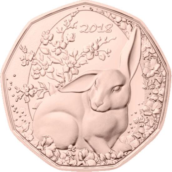 // 5 euro, Austria, 2018 // - Emiterea monedelor cu ocazia Paştelui este deja o tradiţie a monetăriei austriece. În 2016 – gravura cu Iepurele a lui Dürer, în 2017 – un mieluşel, iar în 2018 – un iepuraş fermecător sub  crengi cu mâţişori. Moneda acestui