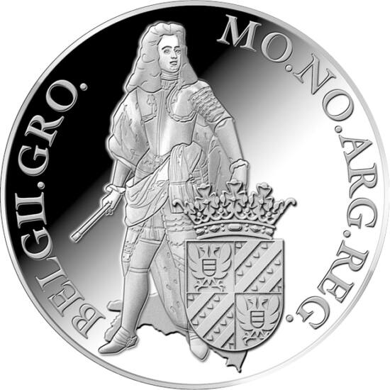 // 1 ducat, argint de 873/1000, Olanda, 2018 // - Au fost introduşi de către olandezi în secolele XVII-XIX, pentru gestionarea plăţilor în comerţul intern. Moneda groningen valora 50 stuyverţ olandez, a fost din argint cu fineţe de 87,3%, cu greutatea de