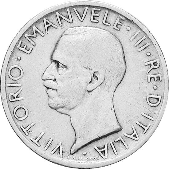 // 5 lire, argint de 835/1000, Italia, 1926-1930 // - Victor Emanuel al III-lea este denumit şi ultimul rege al Italiei. După abdicarea acestuia, din 1946, fiul său Umberto al II-lea i-a devenit succesor, însă numai formal, deoarece din cauza proclamării