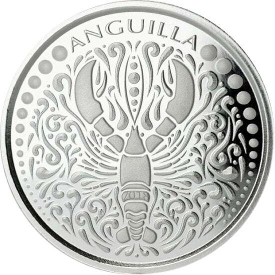 // 2 dolari, argint de 999/1000, Anguilla, 2018 // - Statul Anguilla, aparţinând grupului Insulele Sub Vânt, a intrat pe piaţa monedelor de investiţie din argint. Pe moneda din argint pur de o unciefigurează homarul, visul gurmanzilor, cu speranţa de a a