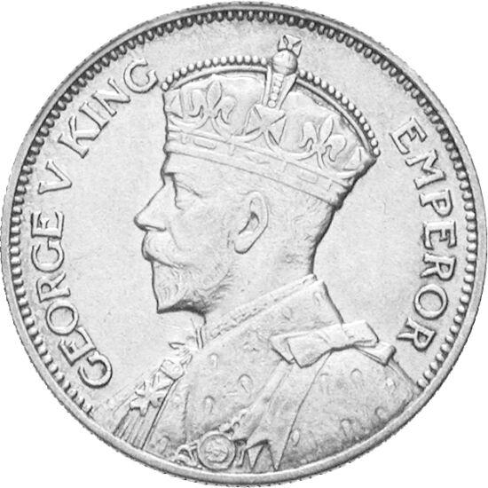 // 1 şiling, argint de 500/1000, Noua Zeelandă, 1933-1935 // - Ţara cea mai izolată a lumii este Noua Zeelandă, care se află cu 1500 km chiar mai departe decât Australia. Populaţia indigenă maori s-a stabilit aici doar în secolul al XIII-lea. Pe moneda co