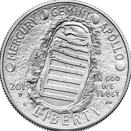 Omul a păşit pe Lună de 50 de ani, 1/2 USD, SUA, 2019