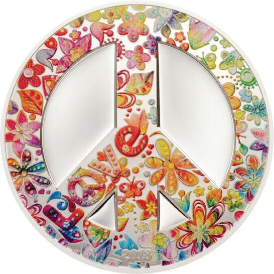 """// 5 dolari, argint de 999/1000, Palau, 2018 // - Mişcarea hippie a marcat anii 1960-1970, un eveniment aparte a acesteia fiind festivalul """"Vara Iubirii"""" din San Francisco, organizat în vara anului 1967. Această monedă din argint, realizată cu simbolistic"""