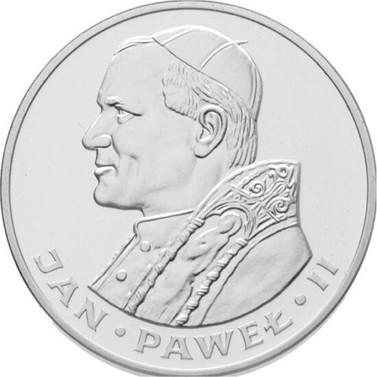 // 1000 zloţi, argint de 750/1000, Polonia, 1982-1983 // - După ce a fost ales suveran pontif, papa de origine poloneză şi-a vizitat patriapentru a doua oară, în 1983, care atunci era în perioada stării de urgenţă. În pofida acelor vremuri tensionate, pa