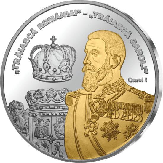 // medalie, România,  // - Carol I a fost încoronat pe 10 mai 1881, ca primul rege al României. În cei 48 de ani de domnie a obţinut independenţa ţării, a redresat economia şi a pus bazele unei dinastii. Printre meritele sale sunt modernizarea şi dezvolta