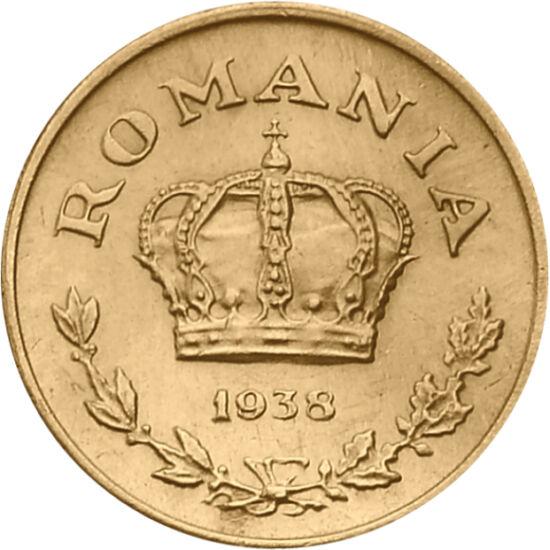 // 1 leu, România, 1938-1941 // - Moneda bătută în timpul celui de-Al Doilea Război Mondial evocă epoca luptelor, iar coroana înfăţişată pe monedă, amintirea unei regalităţi dispărute. Carol al II-lea a renunţat la tron în favoarea fiului său, iar după ce
