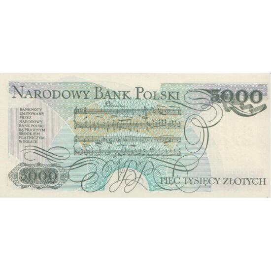 // 5000 zloţi, Polonia, 1982 // - Opera vieţii lui Frédéric Chopin este văzută ca arhetipul stilului romantic. Pe bancnotă, apare figura celui mai mare compozitor şi virtuoz polonez al pianului, iar pe revers notele unui fragment dintr-un dans polonez com