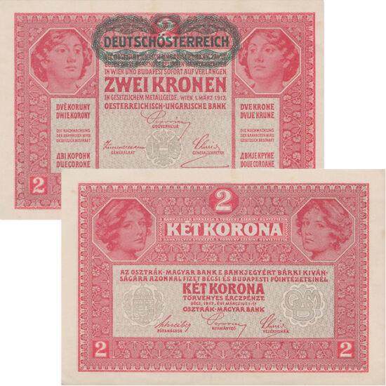 // 1, 2 kronen, Austria, 1919 // - Ultima lansare monetară a Monarhiei Austro-Ungare. Inscripţiile oficiale de pe avers sunt în limbile germană şi maghiară, însă pe revers valoarea nominală apare în alte opt limbi, printre care română, cehă şi slovacă.