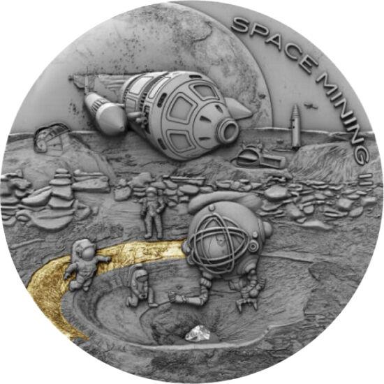 // 1 dolar, argint de 999/1000, Niue, 2019 // - Explorarea spaţială este o cauză comună a omenirii, cu nenumărate sarcini, pentru a trimite oameni în Spaţiu. Una dintre acestea este, cum să construim o navă spaţială? Dacă e construită pe Pământ, mai întâi