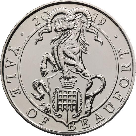 // 5 lire, Marea Britanie, 2019 // - Yale arată ca un ţap cu pete, cu colţi de mistreţ şi cu coarne care pot arăta în orice direcţie. Prima relatare ştiinţifică despre această bestie provine de la savantul roman Plinius, care îl prezintă în volumul lui de