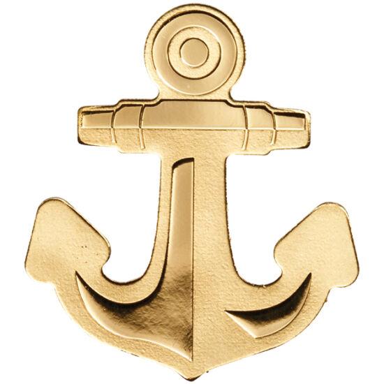 // 1 dolar, aur de 999,9/1000, Palau, ND // - Mica insulă, Palau a surprins lumea numismatică cu această nouă lansare monetară de forma unei ancore, simbol al exploratorilor mărilor necunoscute, autorii curajoşi ai unor descoperiri care au schimbat lumea.