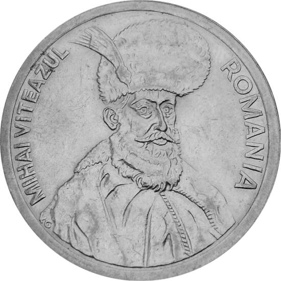 // 100 lei, România, 1991-1996 // - Domnitor al Ţării Româneşti, primul unificator al poporului român, a fost unul dintre cele mai marcante personalităţi istorice româneşti. A devenit un simbol al luptei pentru independenţă şi unitate.