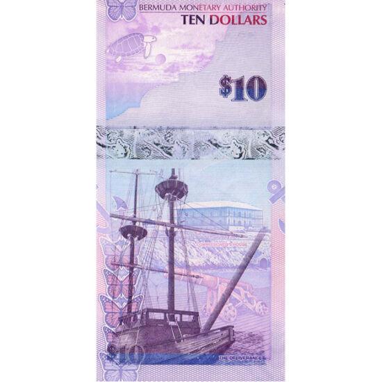 // 10 dolari, Bermuda, 2009 // - Insulele Bermuda sunt învăluite în mistere, sporite şi de dispariţia fără urme a navelor şi a avioanelor. Bancnotele sunt decorate pe avers cu peştele-înger albastru, iar pe revers, cu imaginea navei Deliverance, construit