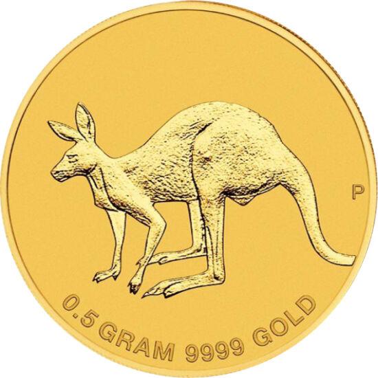 // 2 dolari, aur de 999,9/1000, Australia, 2019 // - Cea mai popularămonedă australă de investiţie din aur este cangurul. Pe lângă cele opt mărimi, în acest an a fost emis şi la greutatea de 0,5 g, cu motivul cangurului preluat de pe moneda de o uncie. Î