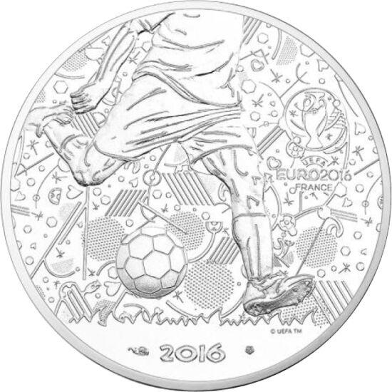 // 10 euro, argint de 333/1000, Franţa, 2016 // - În Franţa, gazda campionatului european de fotbal din 2016, va avea loc între 7 iunie şi 7 iulie al 8-lea Campionat Mondial de Fotbal Feminin. Moneda oficială a acestui eveniment ne readuce amintirile şi m