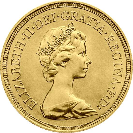 """// 1 sovereign, aur de 917/1000, Marea Britanie, 1974-1984 // - Simpatia care o înconjoară pe Elisabeta a II-a este pilonul principal al monarhiei. Ea este probabil ultima a cărei domnie se trage """"din voinţa lui Dumnezeu"""" şi nu din """"voinţa poporului"""". Pe"""