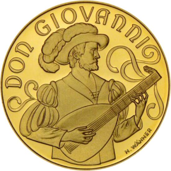 // 500 şilingi, aur de 986/1000, Austria, 1991 // - Mozart este cel mai mare compozitor al tuturor timpurilor.Talentul lui muzical s-a manifestat încă de la 5 ani. Austria a comemorat cei 200 de ani de la naşterea celui mai important personaj cultural, p
