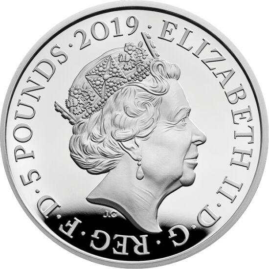 // 5 lire, Marea Britanie, 2019 // - Pe această monedăjubiliară britanică apar portretele celor mai longevive regine ale Angliei. Portretul Victoriei din tinereţe era primul dintre cele patru apărute pe monede. Portretul actual al reginei Elisabeta este