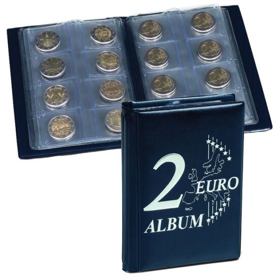 Album de buzunar pentru 48 de monede. Conţine 6 folii în care se pot aşeza monede de 2 euro necapsulate.