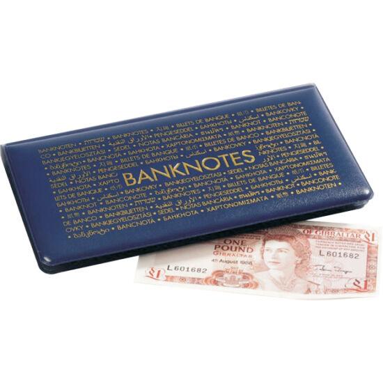 Album de buzunar pentru 20 de bancnote. Conţine 20 de folii în care se pot aşeza bancnote de mărimea maximă de 182x92 mm.
