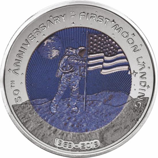 Monedă din titaniu – 50 de ani de la aselenizare pe Lună